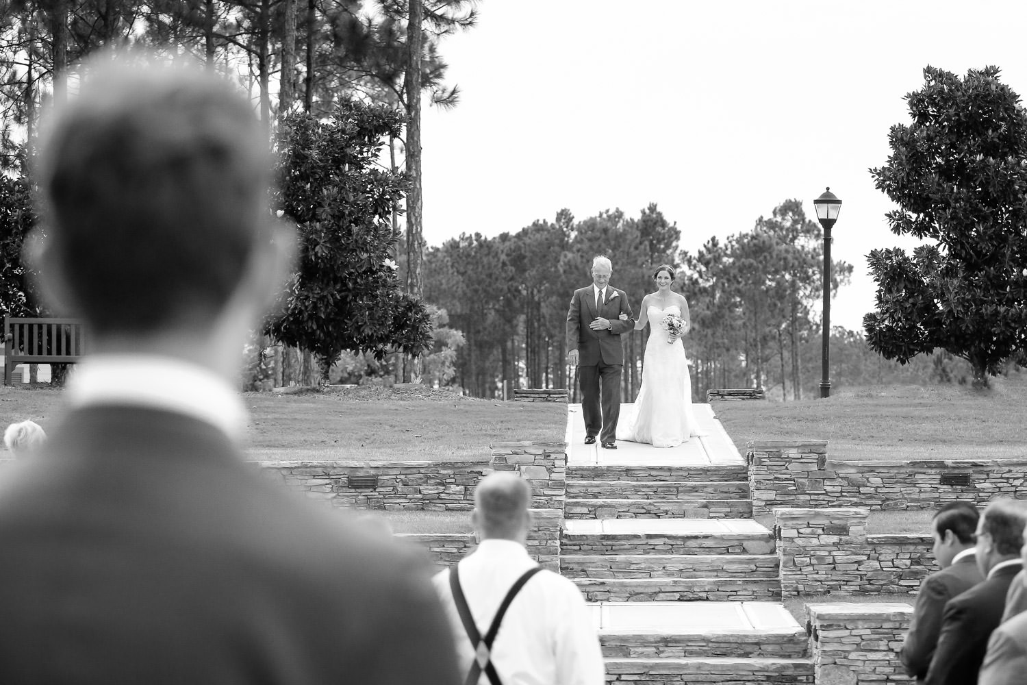 bride walking to the alter