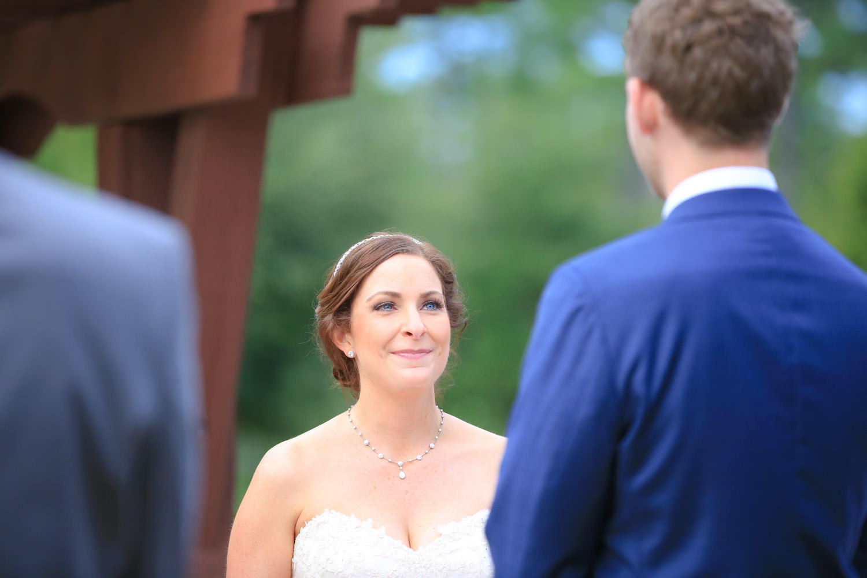 bride tears up at alter in St James plantation
