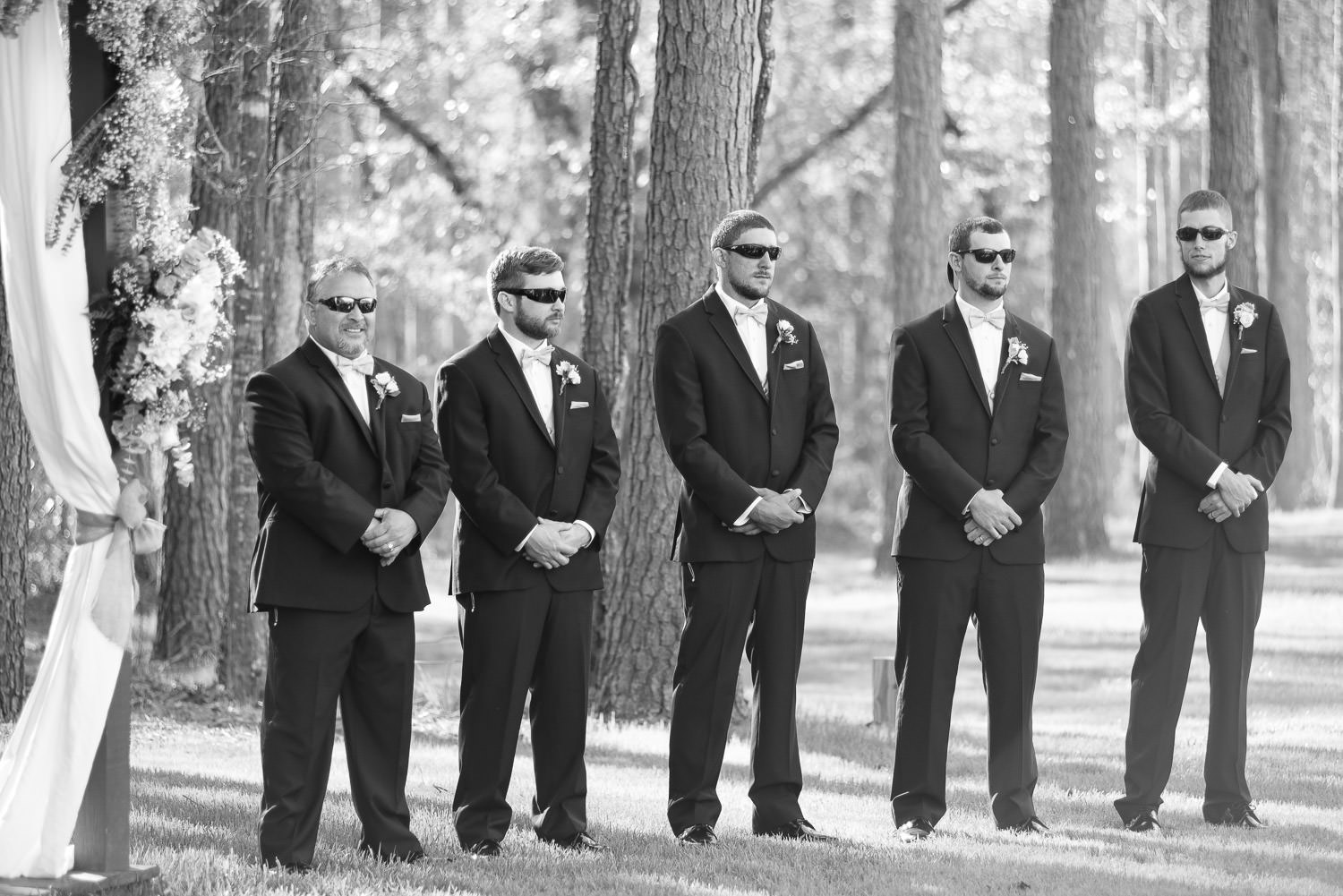 groomsmen at a north carolina wedding