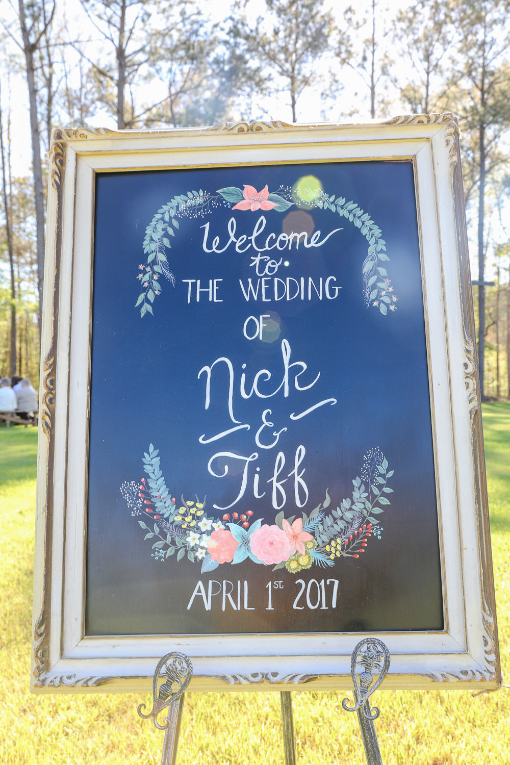 wedding day sign in Wilmington