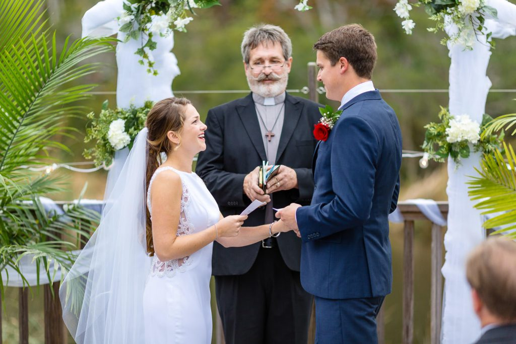 marriage vows at cape fear yacht club