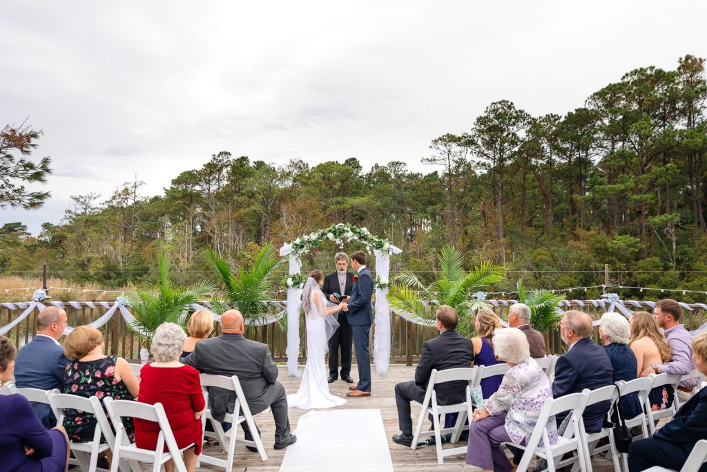 wedding ceremony at Cape Fear yacht club